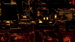 Cyber Tech Digital Background - Front view - Red Gold