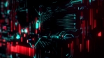 Cyber Tech Digital Background - Red Green