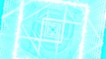 SQUARE TUBE TRAVEL CLEAR BLUE AND WHITE