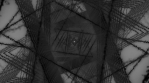 triangle tube black and white negative