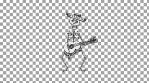 Fiesta Macabre - 4k loop: skeleton mariachi