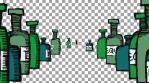 Fiesta Macabre - 4k loop: tequila bottles