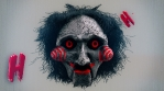 Flashing And Laughing Scary Clown Mask VJ Loop
