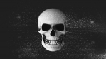 Abstract Background Halloween Static Scary Skull 20