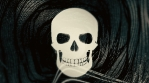 Abstract Background Halloween Static Scary Skull 21