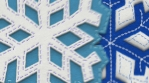 Snowflake felt figure isolated with alpha. Funny Christmas transition