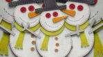 Snowman figure isolated with alpha. Funny Christmas transition