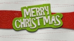 Merry Christmas banner isolated with alpha. Funny Christmas transition