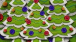Christmas tree figure isolated with alpha. Funny Christmas transition