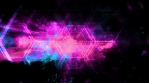 Magenta blue and black looping abstract animated shapes background