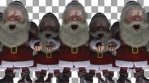 Loopable Army of Sick Santa Clauses