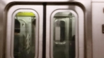 New York Slow Motion Train and Subway, abstract background VJ patterns layer
