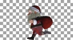 Santa Claus Running for Christmas