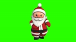 Cute Santa dancing salsa isolated on green screen. Seamless funny Christmas animation with chroma.