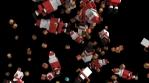Seamless animation of geometric Christmas elements falling. Christmas funny background.