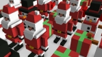 Seamless animation of geometric Christmas elements . Christmas funny background.