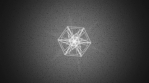 Abstract Background Morphing Geometric Snowflake 13
