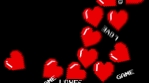 8 bits pixel bouncing hearts animation. Retro arcade video game Valentine´s Day background.