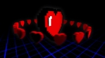 8 bits pixel heart animation. Retro arcade video game Valentine´s Day background.