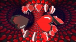 8 bits pixel dancing hearts animation. Retro arcade video game Valentine´s Day background.