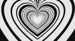 Hypno Love Op Art Heart Tunnel 02