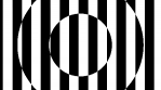 Op Art Inverted Concentric Circles Lines 04