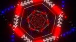 Arrow Box Red and Blue Mandala 06