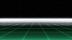 Retro Eighties Basic Grid Green Landscape Horizon 01
