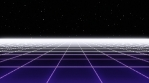 Retro Eighties Basic Grid Purple Landscape Horizon 01