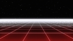 Retro Eighties Basic Grid Red Landscape Horizon 01