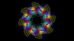 Kaleidoscopic Octogonal Wire Glowing Pattern 02