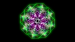 Kaleidoscopic Octogonal Wire Glowing Pattern 03