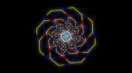 Kaleidoscopic Octogonal Wire Glowing Pattern 04