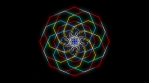 Kaleidoscopic Octogonal Wire Glowing Pattern 05