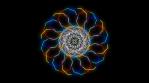Kaleidoscopic Octogonal Wire Glowing Pattern 06