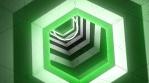 HEXAGON GREEN 3D TUNNEL HD