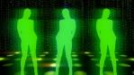 Retro silhouette Dancers