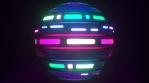 Looping futuristic neon glowing blinking light object