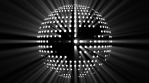 Disco Sphere - Pencil Beams - White - 125bpm
