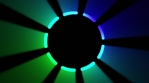 Gobo - Ring - Dashed - Blue Green