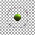 01 Animated Classic Hydrogen Element Orbit Alpha