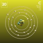 20 Animated Classic Calcium Element Orbit