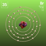 35 Animated Classic Bromine Element Orbit