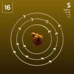 16 Animated Classic Sulfur Element Orbit Color