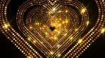 Luxury Gold Heart Stage 4K