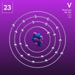 23 animated Classic Vanadium Element Orbit