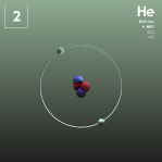 02 animated Classic Helium Element Orbit
