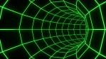 Green Retro Grid - Tunnel