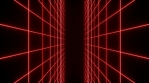 Red Retro Grid - Walls