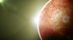 Alien Planet Inside Space Background